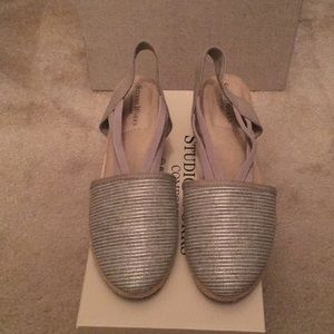 Studio Works silver wedges size 7